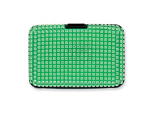 Green Scan Safe Acrylic Stone Bling Hard Wallet With RFID Protection