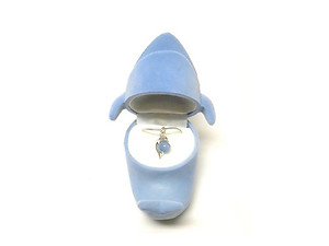 Dolphin Pendant in Blue Velour Hinged Gift Box