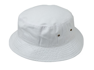 White Fun & Fashionable Unisex Kids Cotton Bucket Hat