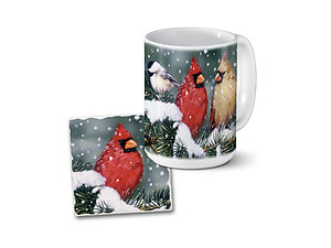 Backyard Birds Mug & Coaster Combo Set