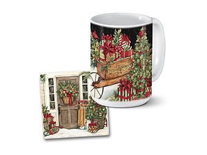 Home For Christmas Mug & Coaster Combo Set