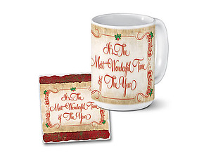 Most Wonderful Time Mug & Coaster Combo Set