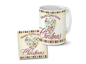 Hearts Come Home Mug & Coaster Combo Set