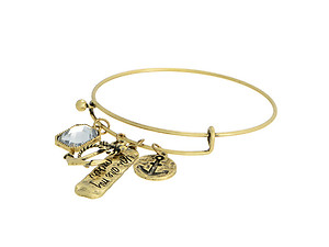 You Are My Anchor Goldtone Adjustable Charm Bracelet