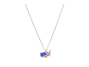 American Flag on America Necklace