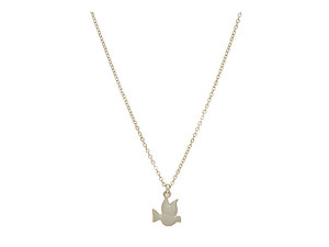 Small Dove Pendant Necklace