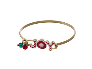 Christmas Watercolor Enamel Gem Charms Hook Bracelet