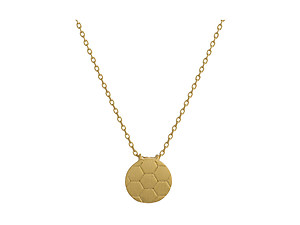 Dainty Metal Soccer Pendant Necklace