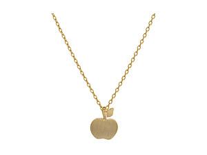 Dainty Metal Apple Pendant Necklace