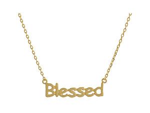 Dainty Metal Blessed Pendant Necklace