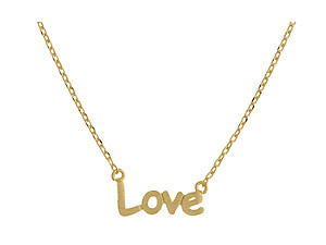 Dainty Metal Love Pendant Necklace