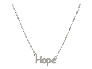 Dainty Metal Hope Pendant Necklace