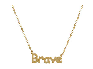 Dainty Metal Brave Pendant Necklace