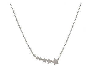 Dainty Metal Shooting Stars Pendant Necklace