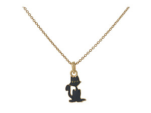 Dainty Goldtone Halloween Themed Pendant Necklace