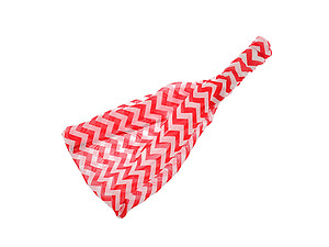 Red & White Chevron Headband