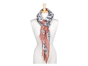 Pink Animal Print Lightweight Rectangle Scarf