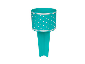 Turquoise Dots Beach Buddy Cup Holder