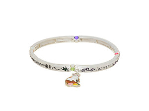 Silvertone Bunny Rabbit Stretch Bracelet