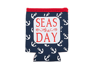 Seas The Day Neoprene Coozie