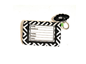 Neoprene Zippered Student ID Case with Key Ring (Greek Lime)