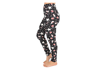 Christmas Print Peach Skin Women's Full Length Patterned Fashion Leggings ~ Style 591D