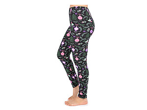 Christmas Print Peach Skin Women's Full Length Patterned Fashion Leggings ~ Style 597D