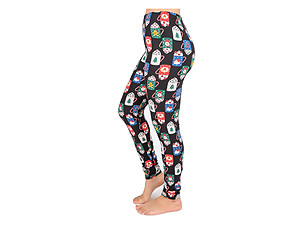 Christmas Print Peach Skin Women's Full Length Patterned Fashion Leggings ~ Style 598D