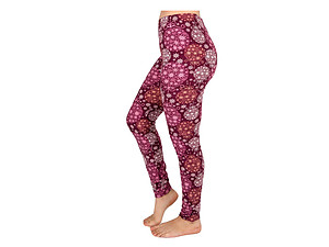 Christmas Print Peach Skin Women's Full Length Patterned Fashion Leggings ~ Style 602D