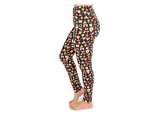 Christmas Print Peach Skin Women's Full Length Patterned Fashion Leggings ~ Style 603D