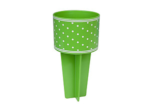 Greek Lime Dots Beach Buddy Cup Holder