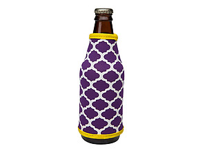 Purple and Yellow Insulated Neoprene Bottle Koozie