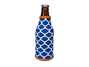 Royal Blue and Orange Insulated Neoprene Bottle Koozie