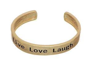 Live Love Laugh Message Cuff Style Bracelet