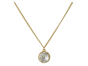 Goldtone Clear Rhinestone Pendant Necklace