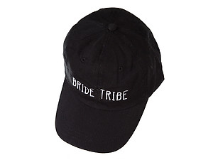 Black Bride Tribe Embroidered Adjustable Back Hat Cap