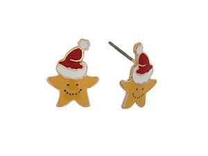 Stars Goldtone Christmas Stud Earring Set