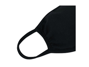 Black Reusable Solid Color T-Shirt Cloth Face Mask