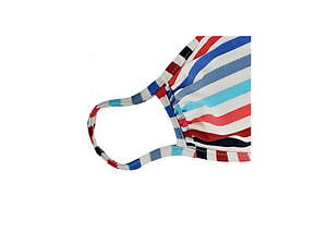 Red Reusable Multicolor Stripe T-Shirt Cloth Face Mask