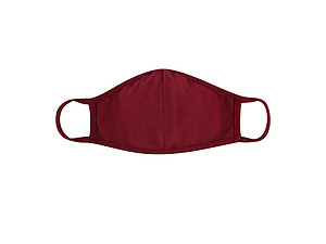 Burgundy Reusable Solid Color T-Shirt Cloth Face Mask with Seam