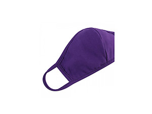 Purple Reusable Solid Color T-Shirt Cloth Face Mask with Seam