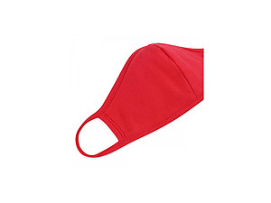 Red Reusable Solid Color T-Shirt Cloth Face Mask with Seam