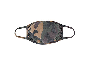 Brown Reusable Camouflage T-Shirt Cloth Face Mask