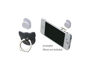 Grey Cat Head Premium Universal Smartphone Mount Ring Hook