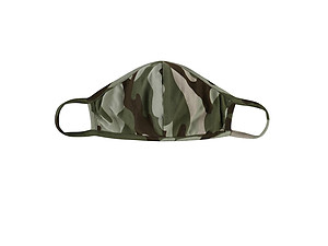 Moss Reusable Camouflage T-Shirt Cloth Face Mask with Seam