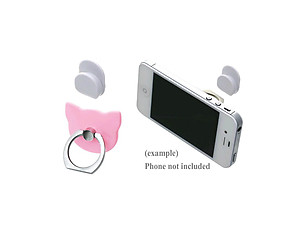 Pink Cat Head Premium Universal Smartphone Mount Ring Hook