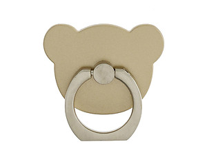 Gold Bear Head Premium Universal Smartphone Mount Ring Hook