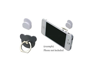 Grey Bear Head Premium Universal Smartphone Mount Ring Hook