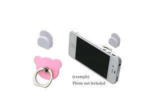Pink Bear Head Premium Universal Smartphone Mount Ring Hook