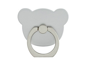 Silver Bear Head Premium Universal Smartphone Mount Ring Hook